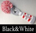 【2017春夏新作】ブラック&ホワイト ユーティリティーヘッドカバー【Black&White】【140cc対応】【レディース】【ゴルフ】【ブラック アンド ホワイト】【あす楽_翌日着荷可】【あす楽_土日祝日も営業】