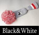【2017春夏新作】ブラック&ホワイト ピンパターヘッドカバー【Black&White】【パター】【レディース】【ゴルフ】【ブラック アンド ホワイト】【あす楽_翌日着荷可】【あす楽_土日祝日も営業】