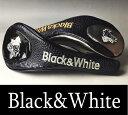 【2017秋冬新作】ブラック&ホワイト ドライバーヘッドカバー【Black&White】【DR】【460cc対応】【メンズ】【ゴルフ】【ブラック アンド ホワイト】【あす楽_翌日着荷可】【あす楽_土日祝日も営業】