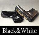 【2017秋冬新作】ブラック&ホワイト ピンパターヘッドカバー【Black&White】【パター対応】【メンズ】【ゴルフ】【ブラック アンド ホワイト】【あす楽_翌日着荷可】【あす楽_土日祝日も営業】
