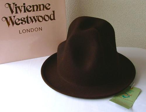 ◆ Vivienne Westwood ◆ Vivienne Westwood ★ Felt Mountain hat limited ☆ felt mountain hut (Brown)