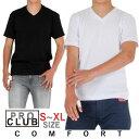 【ネコポスで送料200円】PRO CLUB プロクラブ VネックTシャツ 無地 COMFORT メンズ アメカジ 大きいサイズ(ホワイト ブラック)【コンフォート】#106 S.M.L.XL.サイズ メンズ アメカジ ギフト