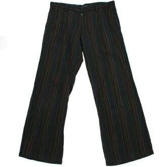 Wise bis Remi Y's bis LIMI cotton striped pants black series Sfs3gm