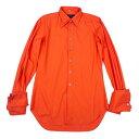 マサキマツシマオムMASAKI MATSUSHIMA HOMME 襟袖多重コットンシャツ オレンジM位【中古】
