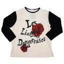 新品!ヨウジヤマモト プールオムYohji Yamamoto POUR HOMME 'Les Liasons Dangereuses' ローズプリントビッグTシャツ 生成3
