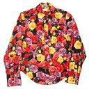 ポールスミス ロンドン Paul Smith LONDON フラワープリントシャツ 赤黒黄他S【中古】