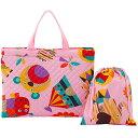 【送料無料】フジキ キルティング レッスンバッグ 巾着袋(小物入れ)付き ZOO ピンク