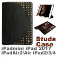 【送料無料】iPad Air Air2 mini mini2 mini3 iPad2 ipad3 ipad4 スタッズ ケース レザー カバー