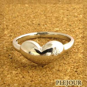 【送料無料】プラチナ・ハートリング・ダイヤモンド・約0.03ct・ぷくぷくハート・リング【RCP】10P06Aug16 ハート pt900 リング ダイヤモンド