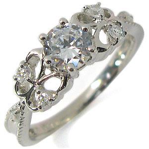 【送料無料】婚約指輪・プラチナリング・ダイヤモンド・アンティーク・蝶・エンゲージリング【1105-m】【smtb-m】 【RCP】10P06Aug16 4月誕生石ダイヤモンドリング 結婚指輪