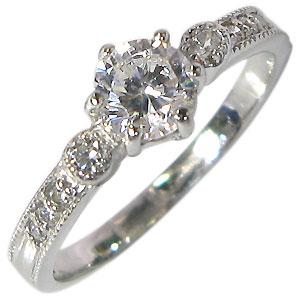 【送料無料】婚約指輪・K18ゴールド・ダイヤ・エンゲージリング・鑑定書付き【RCP】10P06Aug16 4月誕生石ダイヤモンド 18金 ダイヤモンドリング 鑑定書付き