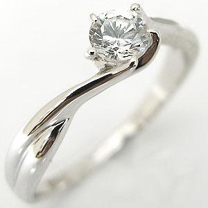 鑑定書付き・エンゲージ・リング・18金・ダイヤモンドリング・ダイヤ・k18・ダイヤモンド・一粒・婚約指輪