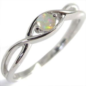 【送料無料】K18・指輪・オパール・一粒・シンプル・リング【RCP】10P06Aug16 10月誕生石 18金 オパール シンプル 指輪 リング