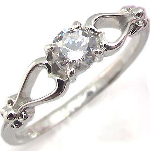 【送料無料】K18・ダイヤモンド・エンゲージリング・一粒・婚約指輪・ハート【RCP】10P06Aug16 4月誕生石 婚約指輪 18金 ダイヤモンド ハート エンゲージリング