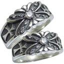 ショッピングペア リング・ダイヤモンド・メンズ・リング・指輪・シルバー・蝶・クロス・ダイヤモンドリング・ペアリング