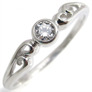 【送料無料】指輪・18金・シンプル・リング・ダイヤモンド・一粒・K18・ダイアモンドリング【RCP】10P06Aug16 4月誕生石 ダイヤモンド K18 シンプル 指輪 リング 18金