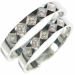 【送料無料】マリッジリング・結婚指輪・ペアリング・ダイヤモンド・K18【RCP】10P06Aug16 18金 リング 結婚指輪 ダイアモンド