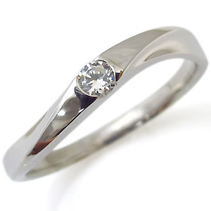 【送料無料】プラチナ・指輪・ダイヤモンド・リング・一粒【RCP】10P06Aug16 ダイヤモンド 4月誕生石 シンプル 指輪 プラチナ