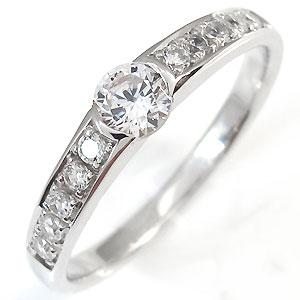 【送料無料】ダイヤモンド・リング・婚約指輪・エンゲージリング・ハーフエタニティ・リング・指輪・0.3ct・一粒・10金【RCP】10P06Aug16 ダイヤモンド リング 婚約指輪 エンゲージリング 指輪 10金