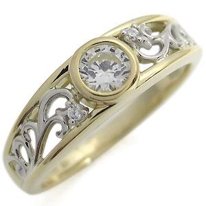 【送料無料】コンビ・エンゲージリング・ダイヤモンド・リング・婚約指輪・0.5ct・18金・爪なし【RCP】10P06Aug16 コンビ エンゲージリング ダイヤモンド リング 婚約指輪 0.5ct 18金