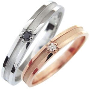 【送料無料】マリッジリング・ダイヤモンド・クロス・18金・結婚指輪・ペアリング【RCP】10P06Aug16 ダイヤモンド マリッジリング ペアリング クロス 18金 結婚指輪
