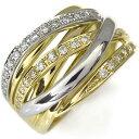 ショッピングダイヤモンド プラチナ・18金・コンビ・ダイヤモンド・リング・指輪