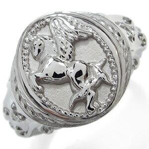 ペガサス・馬・メンズリング・ダイヤモンド・シルバー・指輪