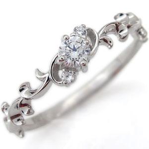 【送料無料】アラベスク・エンゲージリング・唐草・ダイヤモンド・婚約指輪・K10【RCP】10P06Aug16 アラベスク エンゲージリング 唐草 ダイヤモンド 婚約指輪 K10