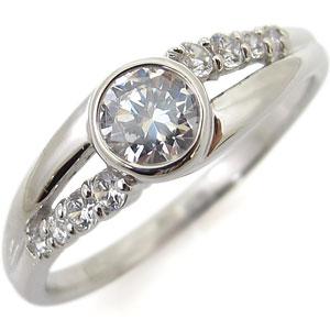 【送料無料】エンゲージリング 婚約指輪 プラチナ 指輪 鑑定書付き ダイヤモンド リング SIクラス 一粒 リング 0.5ct【RCP】10P06Aug16 エンゲージ リング 婚約指輪 プラチナ 鑑定書付き ダイヤモンド