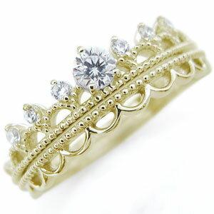 【送料無料】エンゲージリング ダイヤモンド リング 18金 ティアラ 婚約指輪【RCP】10P06Aug16 天然石 ティアラリング ダイヤモンド 婚約指輪