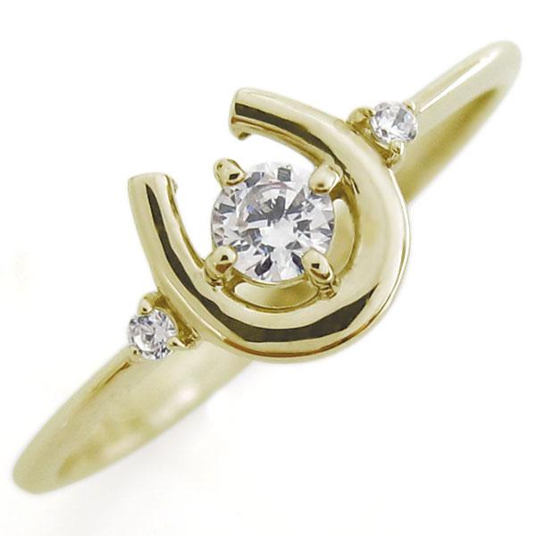 【送料無料】ダイヤモンド リング 馬蹄 指輪 ホースシュー K18 リング【RCP】10P06Aug16 馬蹄 リング ダイヤモンド リング 指輪