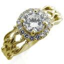【送料無料】アンティーク ダイヤモンド 取り巻き 婚約指輪 エンゲージリング【RCP】10P06Aug16