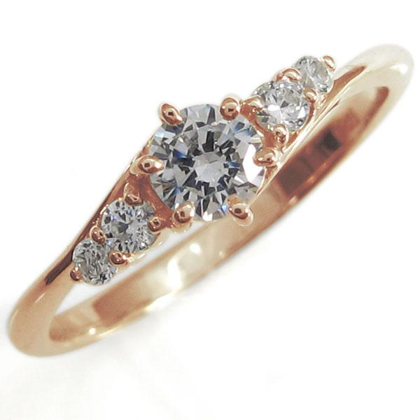 【送料無料】婚約指輪・ダイヤモンド・エンゲージリング・10金【RCP】10P06Aug16 シンプルリング ダイヤモンド 指輪  K10 リング