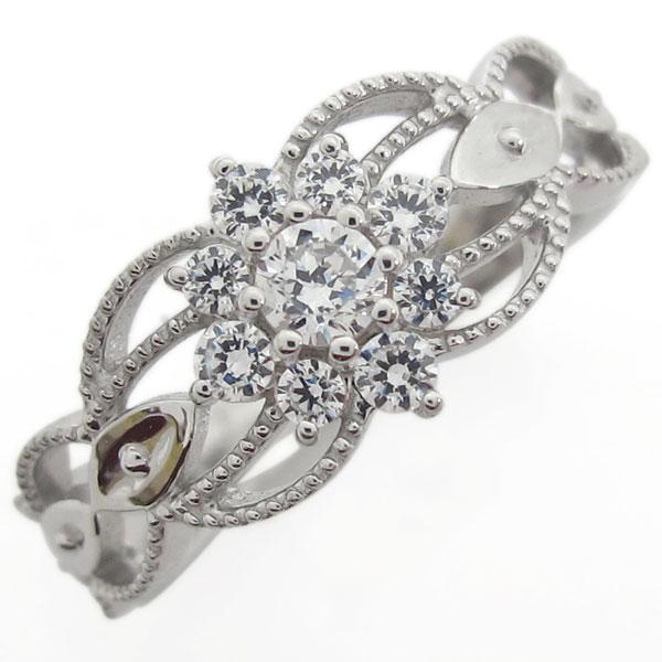【送料無料】プラチナ 婚約指輪 取り巻きリング ダイヤモンド【RCP】10P06Aug16 ダイヤモンドリング 婚約指輪 取り巻き ミル打ちリング