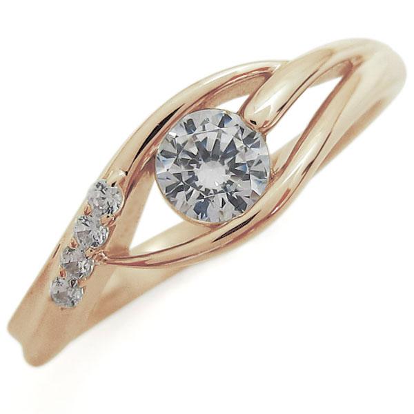 【送料無料】ダイヤモンドリング 10金 エンゲージリング シンプル 婚約指輪【RCP】10P06Aug16 シンプルリング 上品 婚約指輪 K10 エンゲージリング