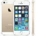 【アウトレット】Apple(アップル) iPhone5s SIMフリー スマートフォン Model:A1453 Gold ゴールド 32GB アップル正規整備済...