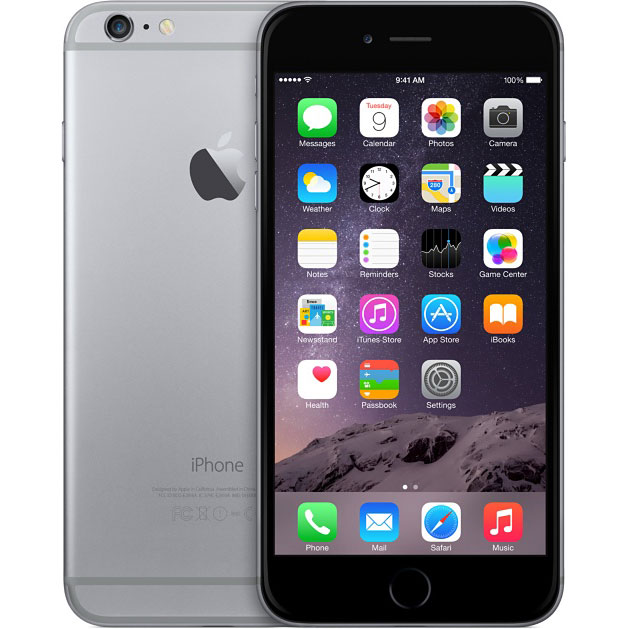 Apple(アップル) iPhone6 SIMフリースマートフォン Model:A1586 SpaceGray スペースグレー 64GB au版 MG4F2J/A
