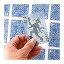 Pixel Cardsピクセルカード(ブルー)ピクセル調トランプインテリア雑貨ギフト プレゼント相手から見えそうで見えない不思議なデザインKIKKERLAND ...