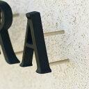 ディーズガーデン表札 アルミ鋳物文字A-12 アルファウッド独立文字表札 一文字 ひ