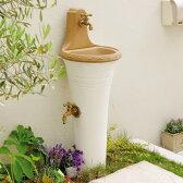 立水栓 スタンドウォッシュ カラー+蛇口&補助蛇口付き 送料無料