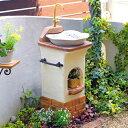 立水栓 スタンドウォッシュ リリー+蛇口&補助蛇口付き 送料無料