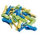洗濯バサミ プルーマ スイートクリップ 36個 ブルー イエロー グリーン