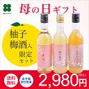 母の日 梅酒 【柚子梅酒入】【紀州の梅酒3種3本飲み比べ 350ml×3本セット】ギフト プ
