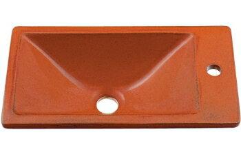 カクダイ ヴィンテージ 手洗器 【493-010-R】 家電 角型手洗器/ 家具/鉄赤:JEANE collectables