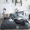布団カバー 4点セット ダブルサイズ 白黒 モノトーン Mサイズ bedding-0542 新生活