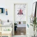 のれん 暖簾 カフェカーテン 間仕切り 大理石調 モノトーン パーテーション noren-0073