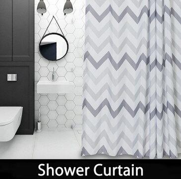 シャワーカーテン バスカーテン 【送料無料】 バス用品 モノトーン ホワイト グレー bath-sc0012