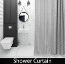 シャワーカーテン バスカーテン 【送料無料】バスルーム 間仕切り グレー ユニットバス 防カビ bath-sc0002