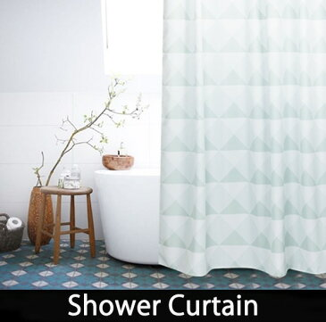 シャワーカーテン 【送料無料】バスシャワーカーテン バスルーム バスカーテン ミントグリーン bath-sc0004