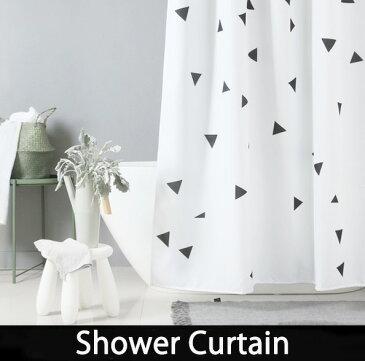 シャワーカーテン バスルーム 【送料無料】 モノトーン 白黒 ホワイト ブラック bath-sc0003